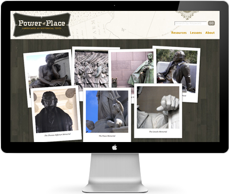 IMAGE: Home page, Power of Place website